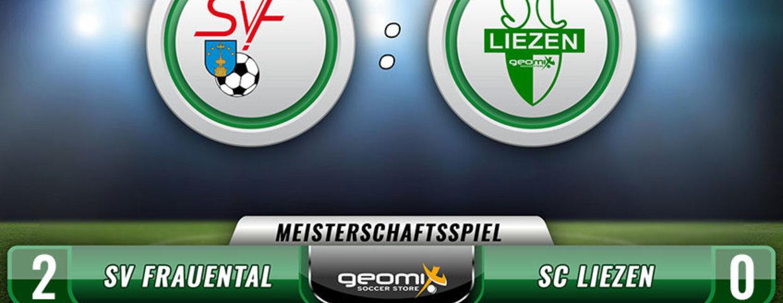 2:0 Niederlage in Frauental