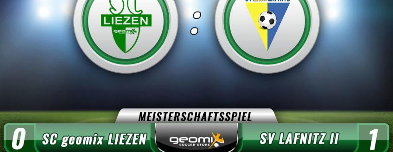 0:1 Niederlage gegen den Tabellen 2. aus Lafnitz